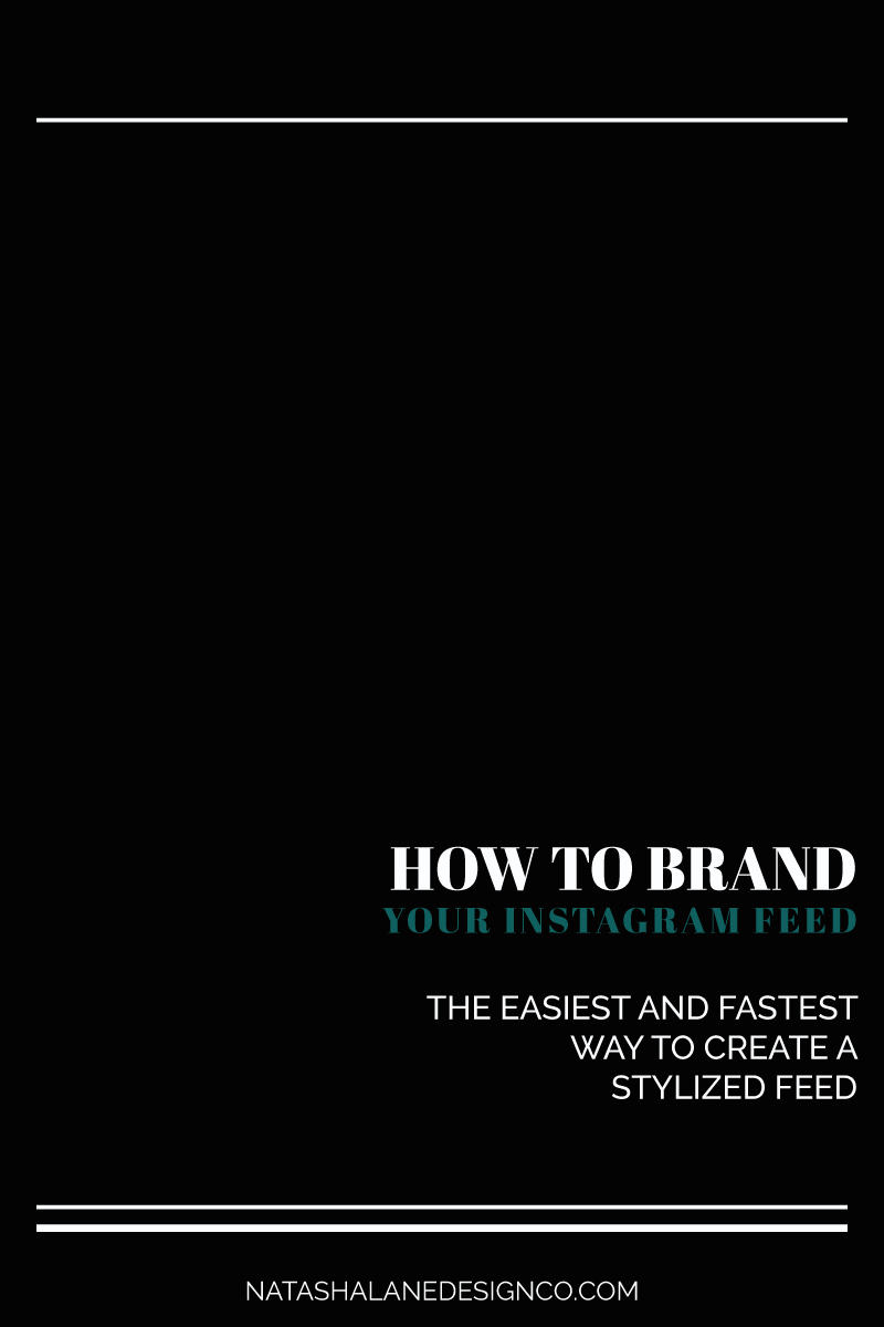 How to brand your Instagram feed