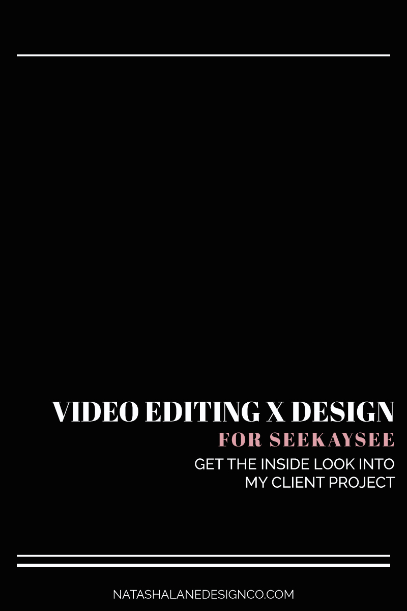 Video Editing and Design for SEEKAYSEE