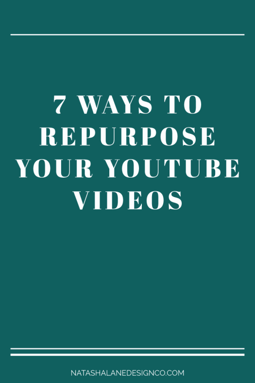 7 ways to repurpose your YouTube videos