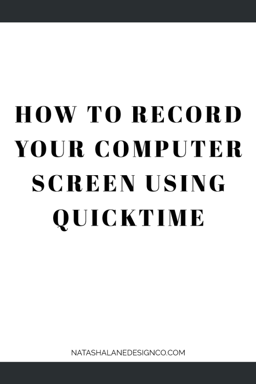 How to record your computer screen using Quicktime