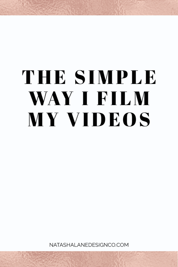 The simple way I film my videos 3