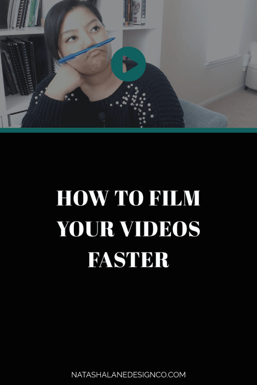How to film your videos faster