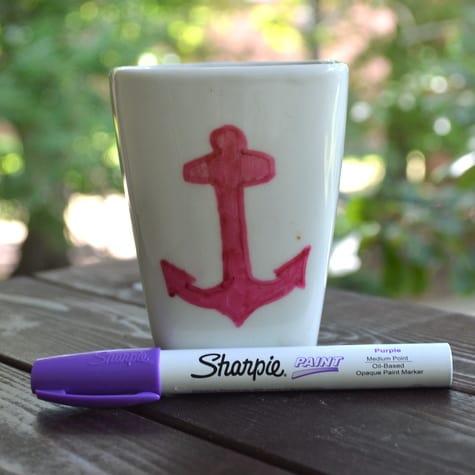 Custom anchor mug