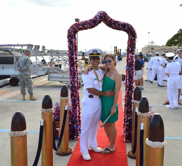 Navy homecoming
