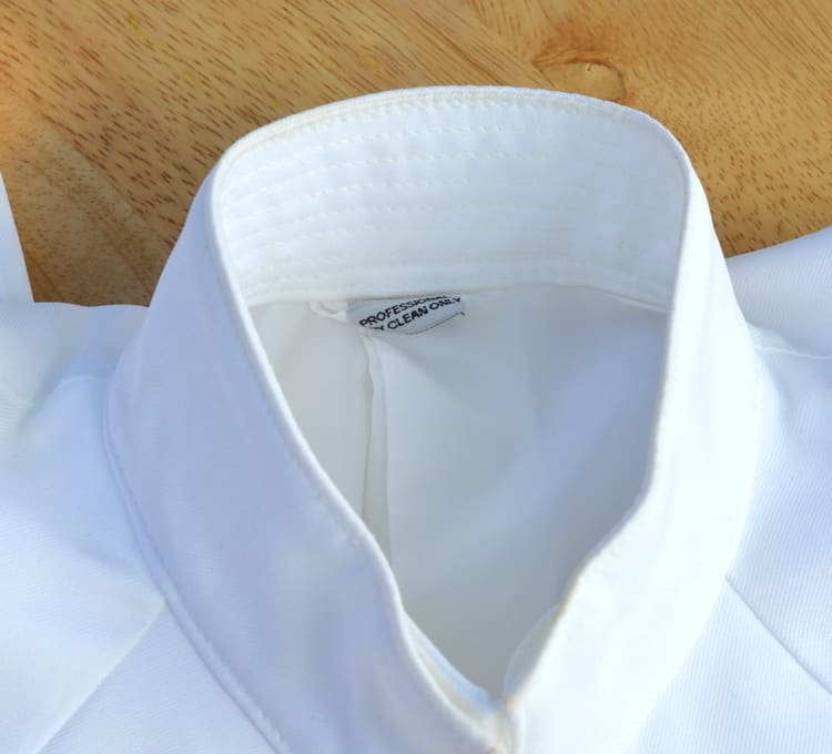 collar stain cleaned with Fels-Naptha