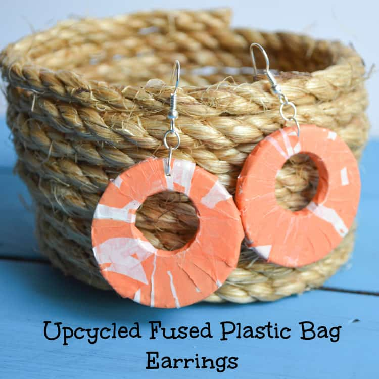 Fused Plastic Bag Earrings
