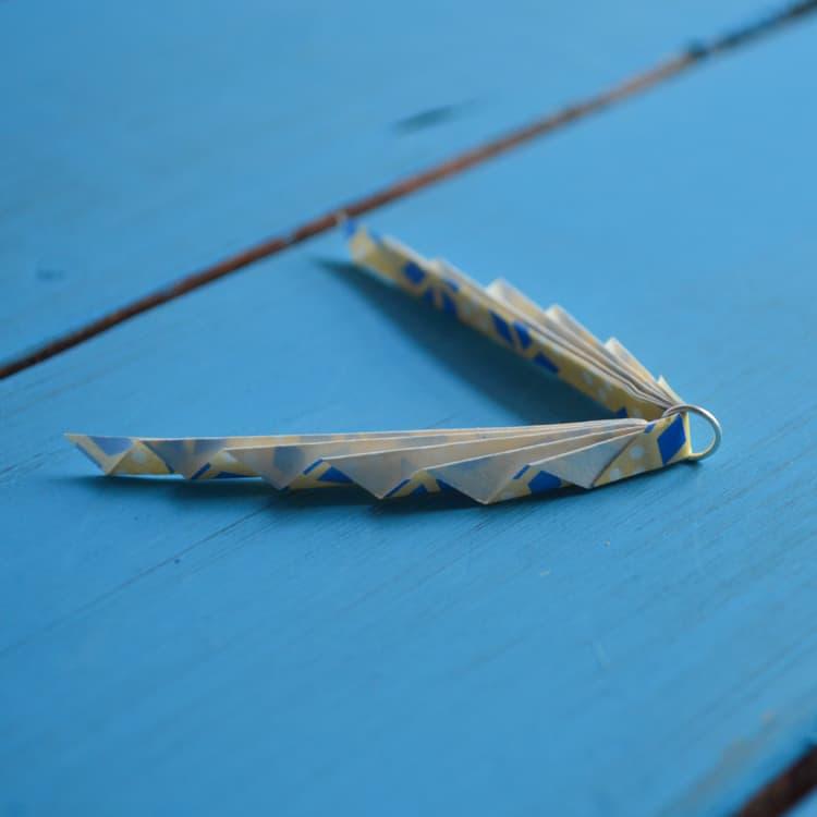 oragami leaf jump ring