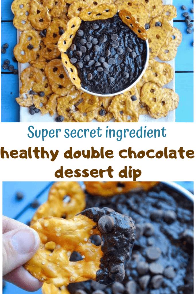 super secret ingredient healthy double chocolate dessert dip