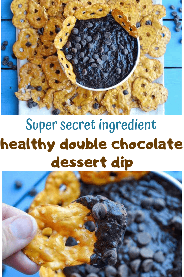 Healthy(er) Double Chocolate Brownie Batter Dessert Dip
