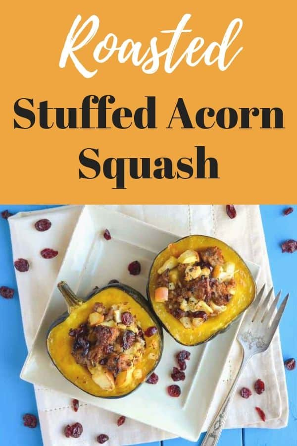 roasted stuffed acord squash