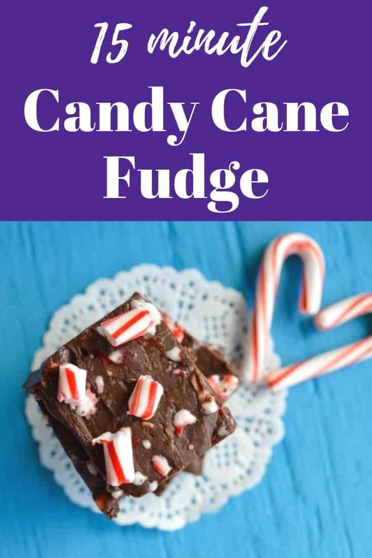 15 minute candy cane fudge