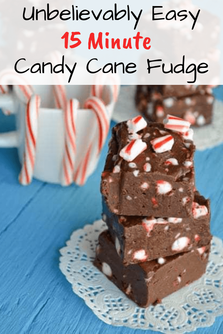 Easy Candy Cane Fudge Recipe