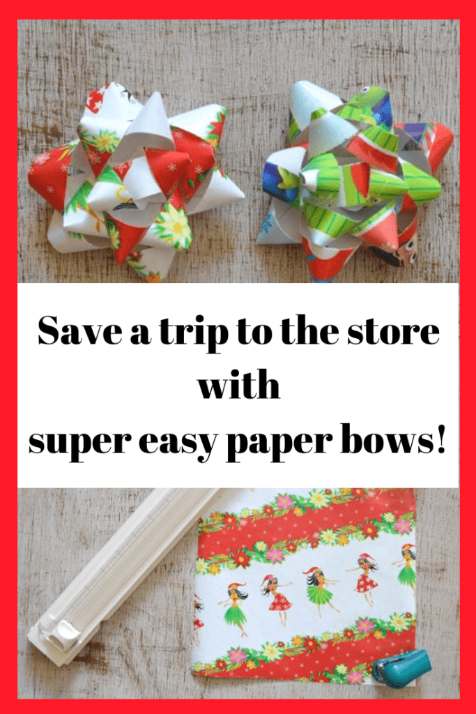 Save a headache with this last minute wrapping hack! Super easy paper bows