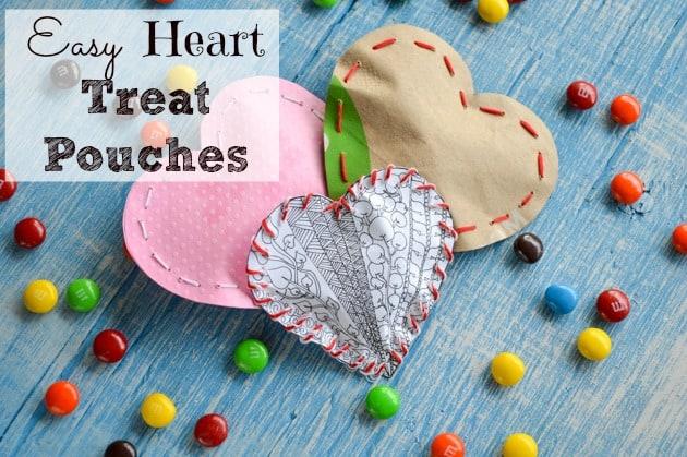 Easy Valentine's Heart Treat Pouches
