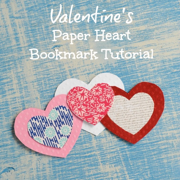 Paper Valentine's Heart Bookmarks Tutorial (With Free Printable Templates!)
