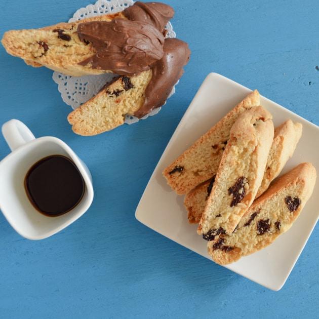 biscotti and espresso