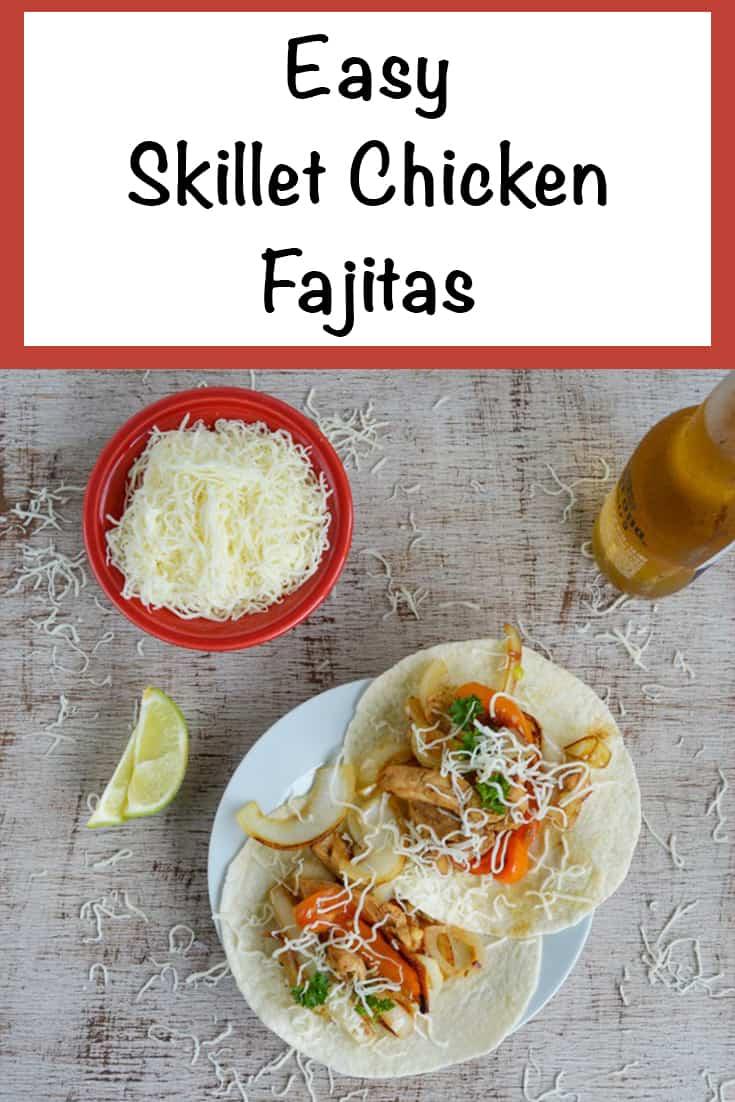 easy chicken skillet fajitas