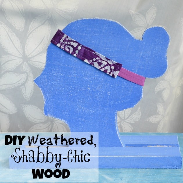 DIY weathered shabby-chic wood