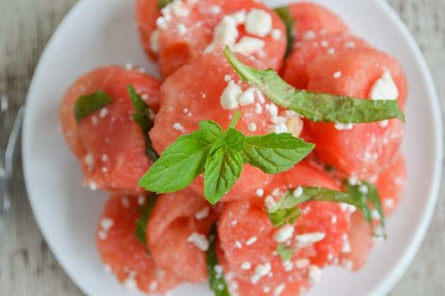 feta mint watermelon salad