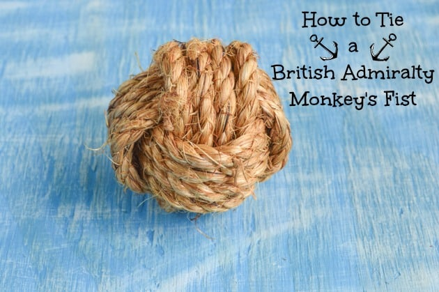 How to Tie a British Admiralty Pattern Monkey's Fist (great for DIY weddings!)