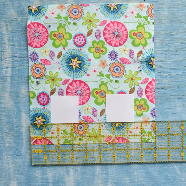 position squares on the fabric