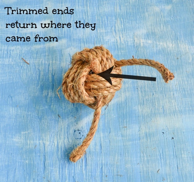 trimmed ends