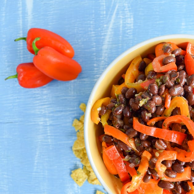 Black Bean Sweet Pepper Summer Salad
