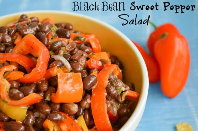 Black Bean Sweet Pepper Salad