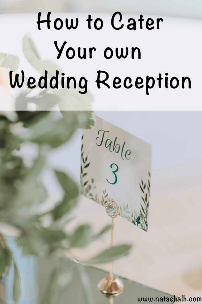How to cater your own wedding reception