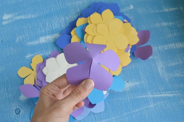 glue the flower together