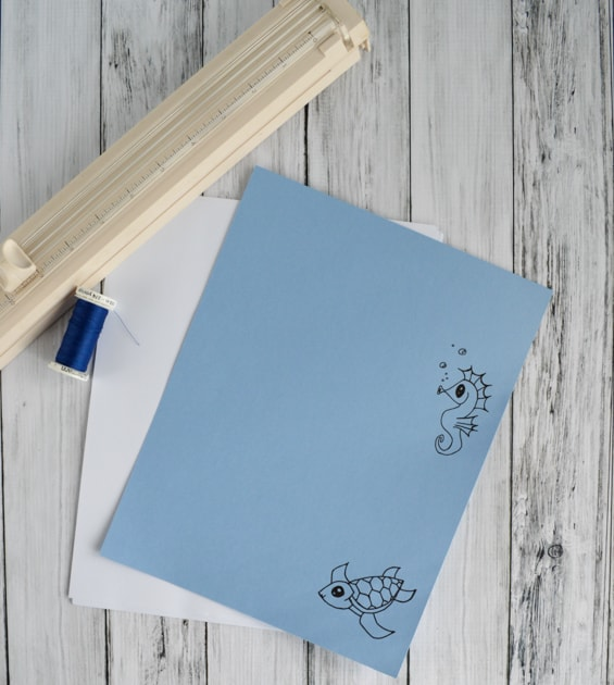 supplies for diy doodle book