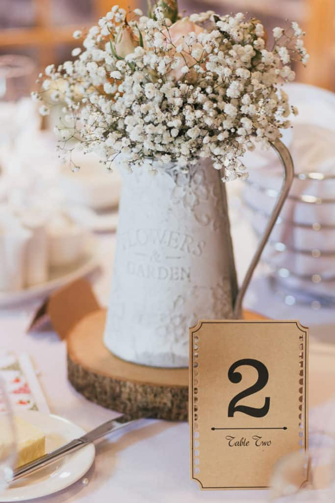 tips for planning a DIY wedding reception
