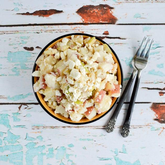 Potato Apple Salad with Feta Cheese