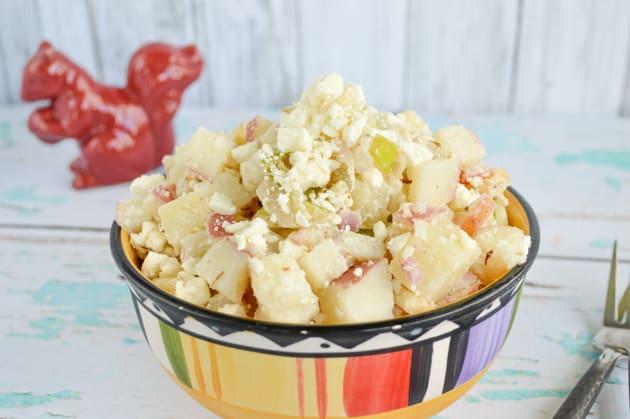 Greek yogurt apple potato salad