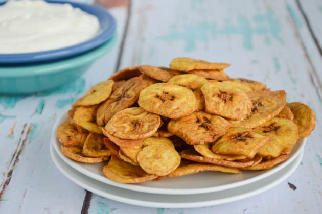 Baked Green Plantain Chips