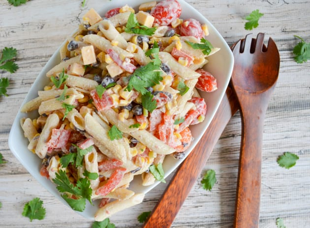 Chipotle Greek Yogurt Pasta Salad