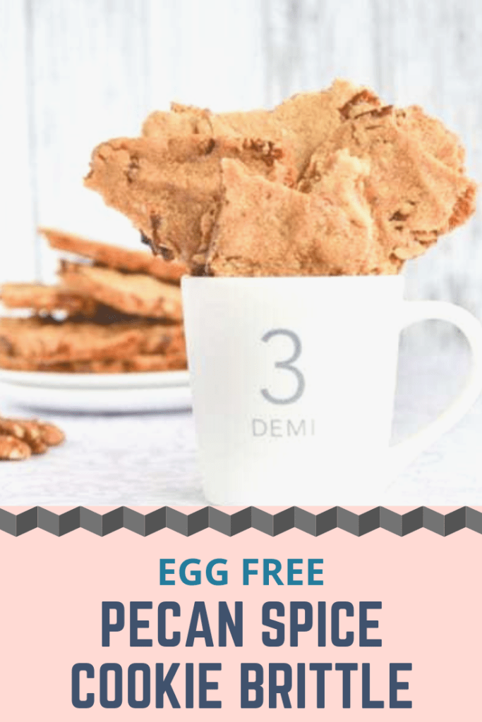 Egg free pecan spice cookie brittle