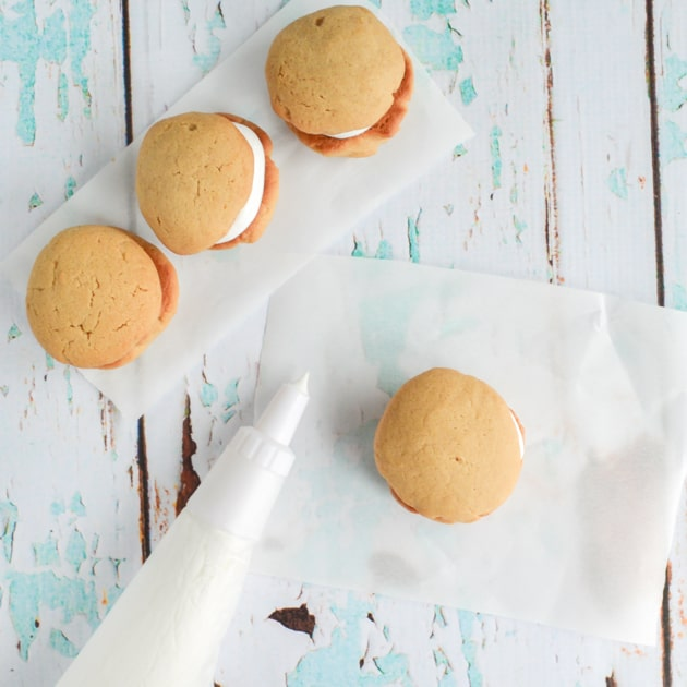 Fluffernutter Cookies with Homemade Marshmallow Fluff