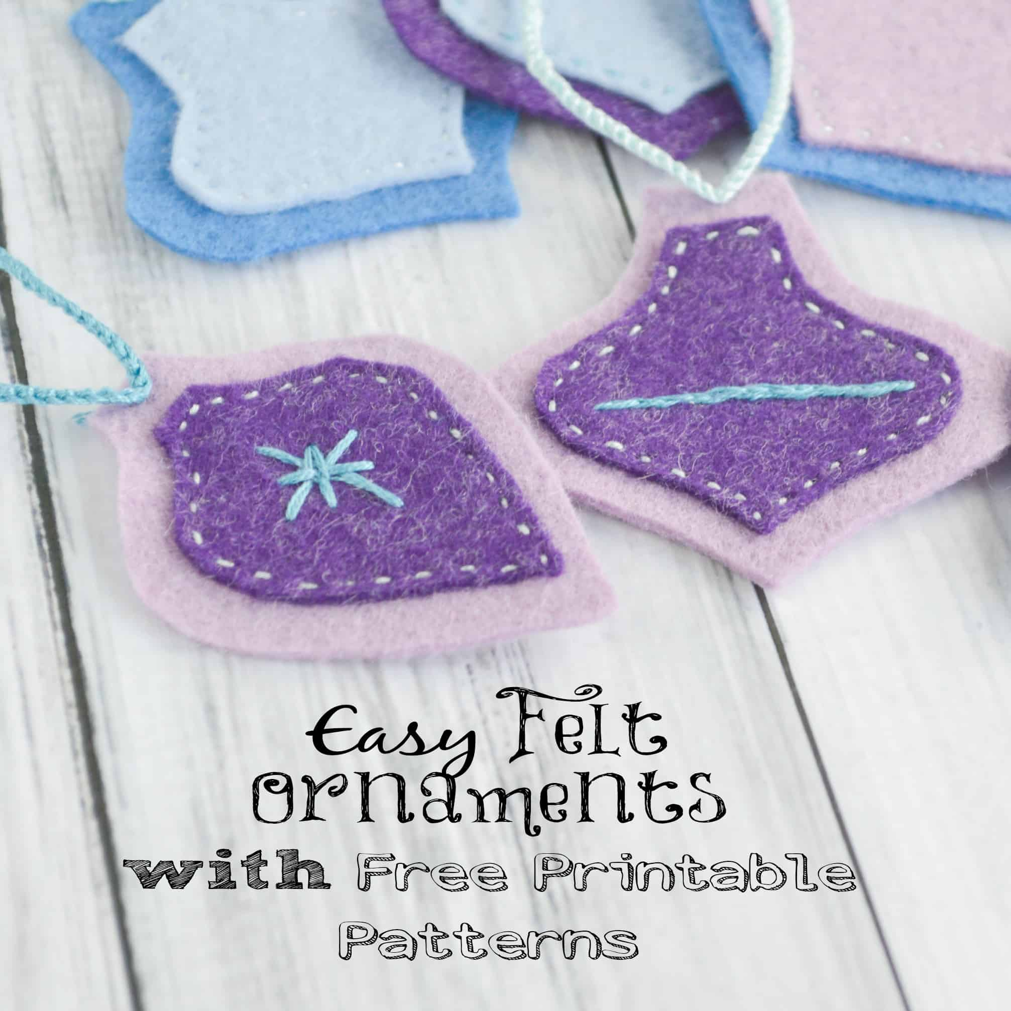 Easy Felt Christmas Ornaments w Free Printable Patterns