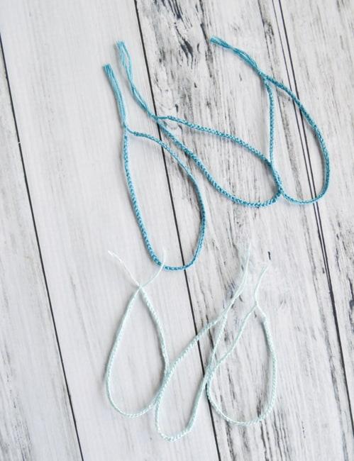 tie the cords into loops