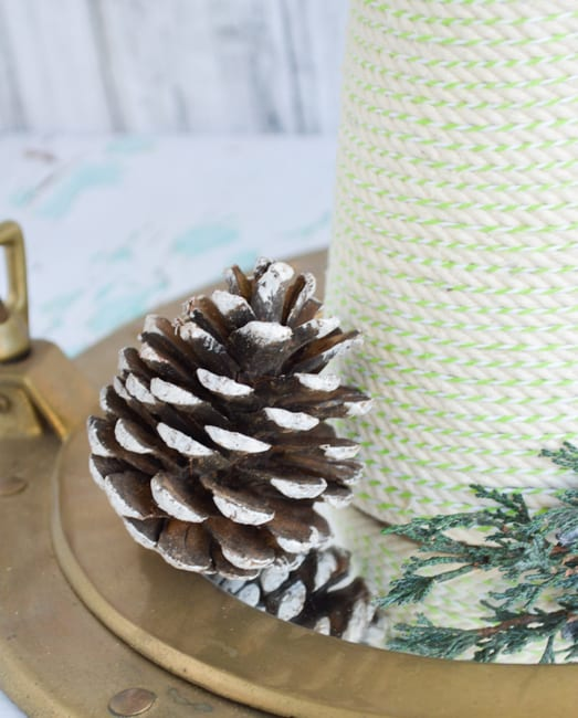 Nautical Rope Tree Christmas Centerpiece