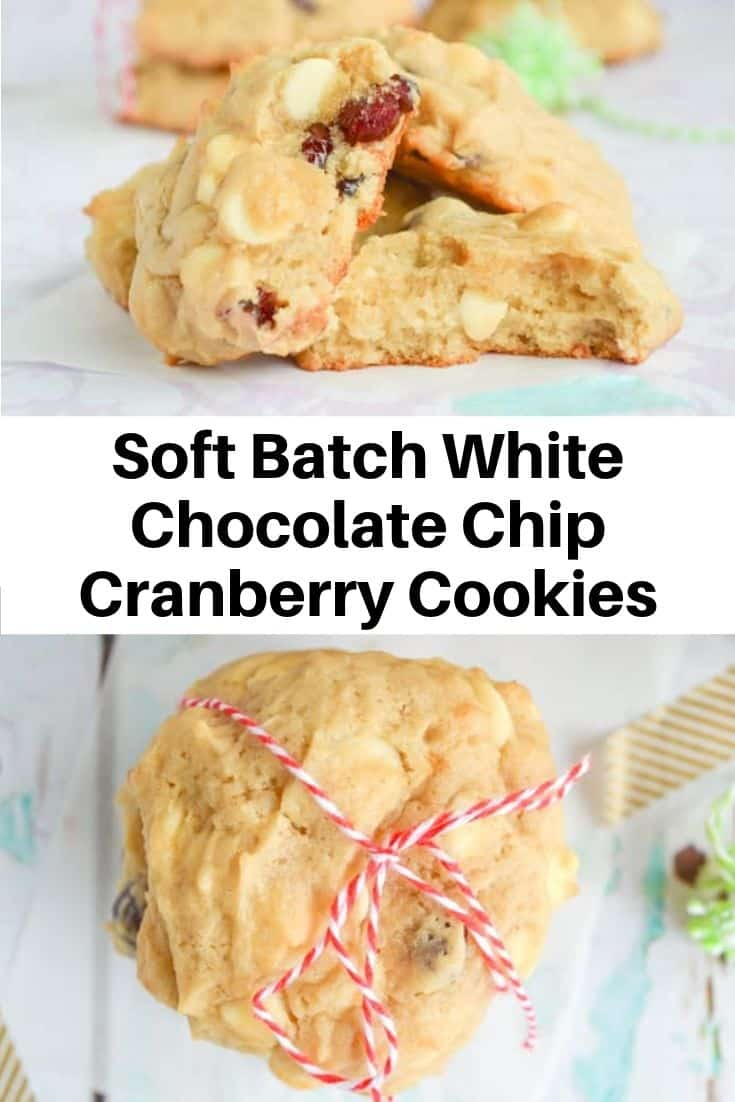 Soft Batch White Chocolate Chip Cranberry Cookies