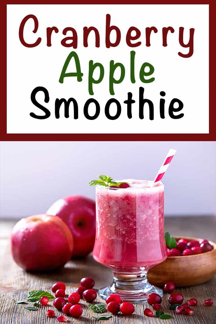 cranberry apple smoothie