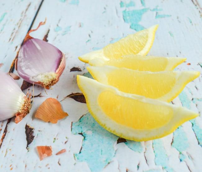 shallots and lemons