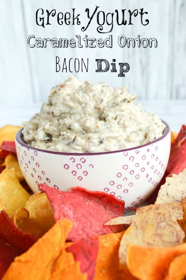 No Mayo Greek Yogurt Onion Bacon Dip