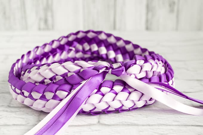 Double Braided Four Strand Ribbon lei Tutorial