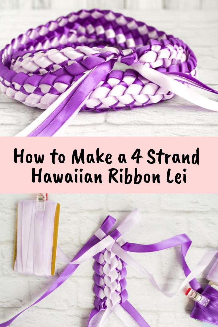 How to make a 4 strand Hawaiian ribbon lei - video ribbon lei tutorial