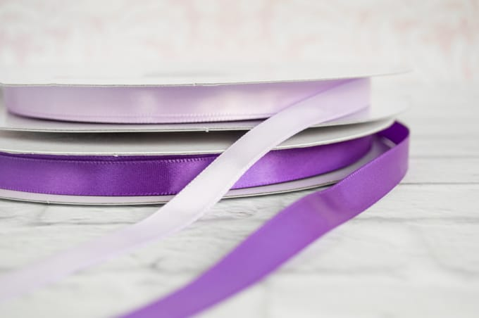 spools of satin ribbon