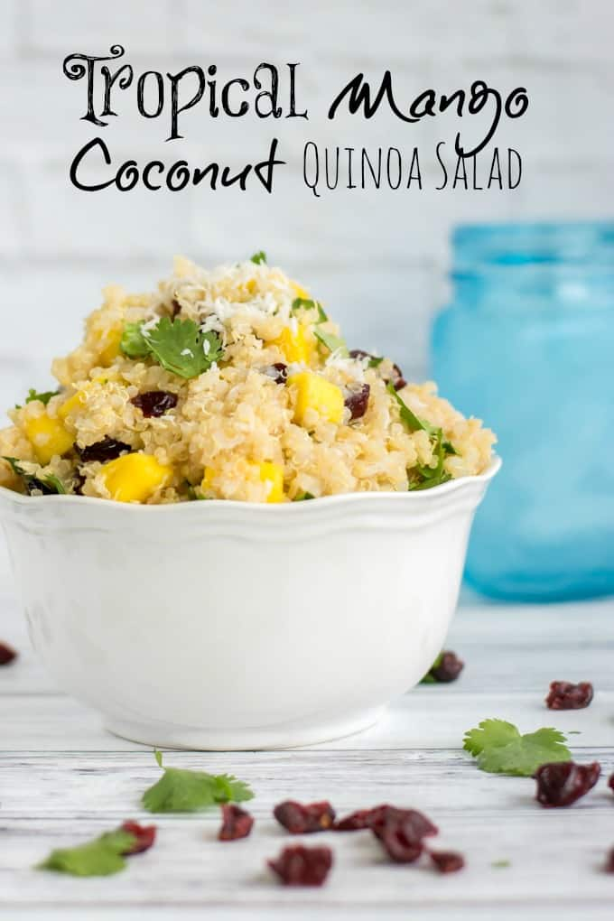 Tropical Mango Coconut Quinoa Salad