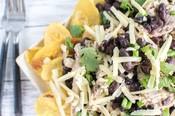 pork and black bean nachos